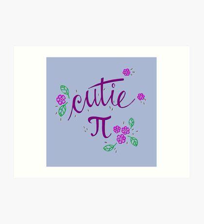 Cutie Pi (Purple) Art Print
