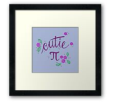 Cutie Pi (Purple) Framed Print