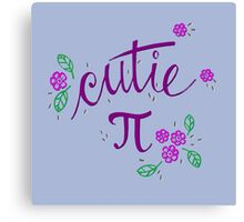 Cutie Pi (Purple) Canvas Print