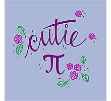 Cutie Pi (Purple) Photographic Print