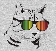 Cool Cat Mirror Rainbow Shades.  by EthosWear