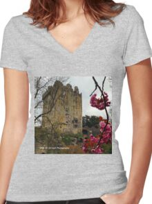 Ireland - Blarney Blossom Women's Fitted V-Neck T-Shirt