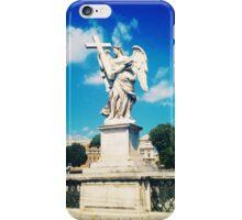Angel statue in Rome  iPhone Case/Skin