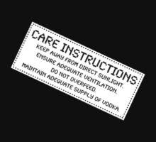 Care Instructions - Vodka T-Shirt