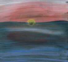 Ocean Sunset by hopelessmoo