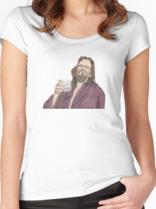 """Jeffrey """"the Dude"""" Lebowski Women's Fitted Scoop T-Shirt"""