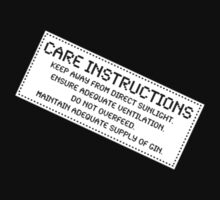 Care Instructions - Gin by Ron Marton