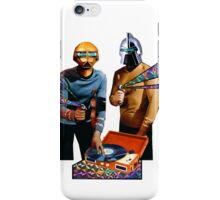 Spock and Kirk Beam Up a Record Player and Shoot Phasers Set on Stun iPhone Case/Skin
