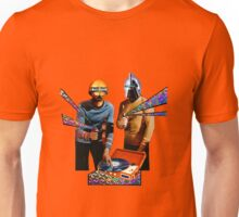Spock and Kirk Beam Up a Record Player and Shoot Phasers Set on Stun Unisex T-Shirt