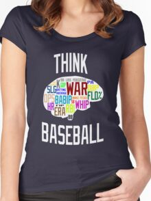 Think Baseball Women's Fitted Scoop T-Shirt