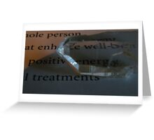 CRYSTAL POSITIVE VIRTUES  Greeting Card