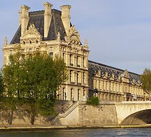 The Louvre from the Seine by Linda Hardt