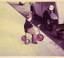 Budding Car Thief? Circa 1956 by Mike Oxley