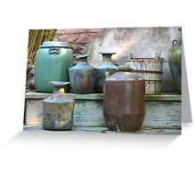 Clay pots in color Greeting Card