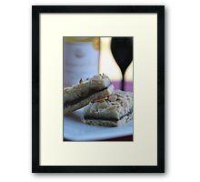 Chocolate Almond Slice Framed Print