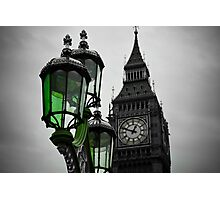 Green Light for Big Ben Photographic Print