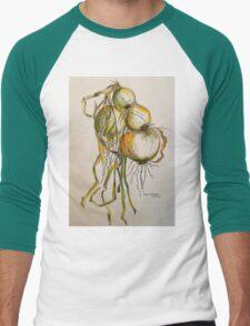 Drying onions Tuscany p&w 2010.  T-Shirt