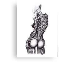 Biomechanoid Sketch Canvas Print