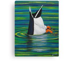 Diving Duck Canvas Print