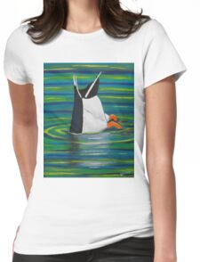 Diving Duck Womens Fitted T-Shirt