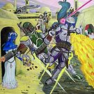 Showdown Of The Bounty Hunters by Jedro