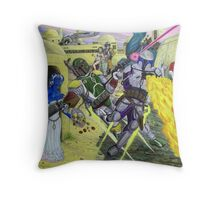 Showdown Of The Bounty Hunters Throw Pillow