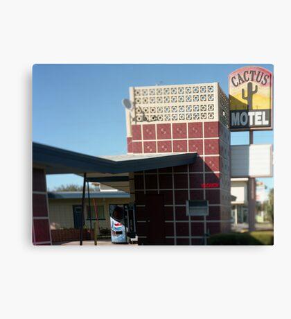 Cactus Motel Canvas Print