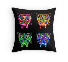 Techno Owls Throw Pillow