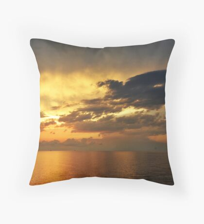 Sunrise over the Gulf of Mexico 2 Throw Pillow