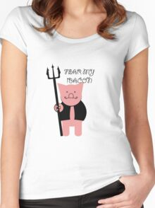 FEAR MY BACON Women's Fitted Scoop T-Shirt
