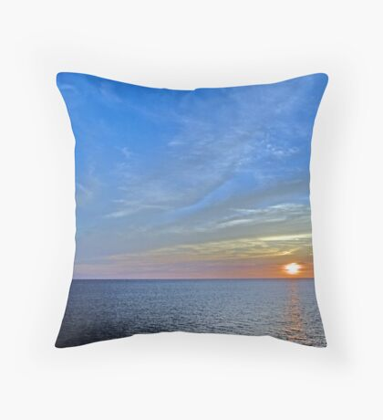Sunset over the Gulf of Mexico 4 Throw Pillow