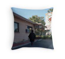Sandman Motel Throw Pillow
