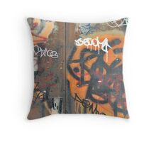 West Broadway Grafitti Throw Pillow