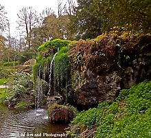 Ireland - Blarney Garden Waterfall by jezebel521