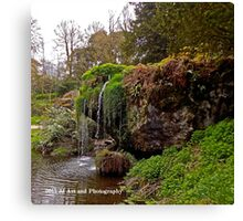 Ireland - Blarney Garden Waterfall Canvas Print