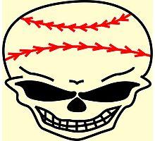Baseball Skull Photographic Print