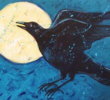 Raven and the Moon by carolsuzanne