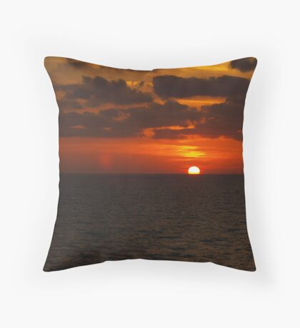 Sunset over the Gulf of Mexico 10 Throw Pillow