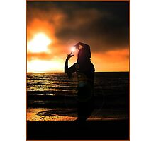 Sunset Silhouette V Photographic Print