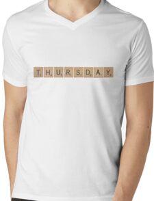 Wood Scrabble Thursday! Mens V-Neck T-Shirt