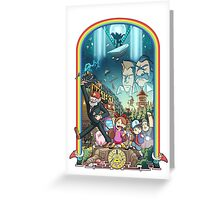 The Town Of Gravity Falls  Greeting Card