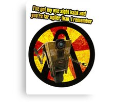 CLAPTRAP QUOTES Canvas Print