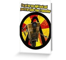 CLAPTRAP QUOTES Greeting Card