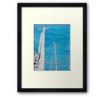 Sailboat sail Amel 3 Oil on Canvas Painting Framed Print