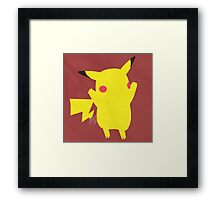 Pikachu (Simplistic)  Framed Print