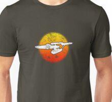 Constitution class Starship - dark Unisex T-Shirt