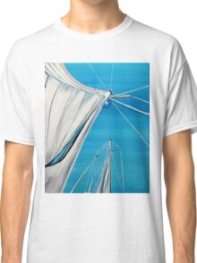 Sailboat sail Amel 1 Oil on Canvas Painting Classic T-Shirt
