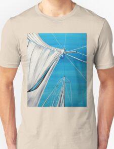 Sailboat sail Amel 1 Oil on Canvas Painting Unisex T-Shirt