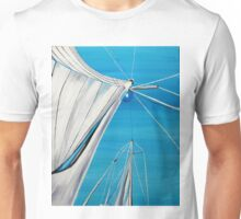 Sailboat sail Amel 1 Oil on Canvas Painting Unisex T-Shirt