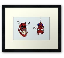 nyan deadpool and friends Framed Print